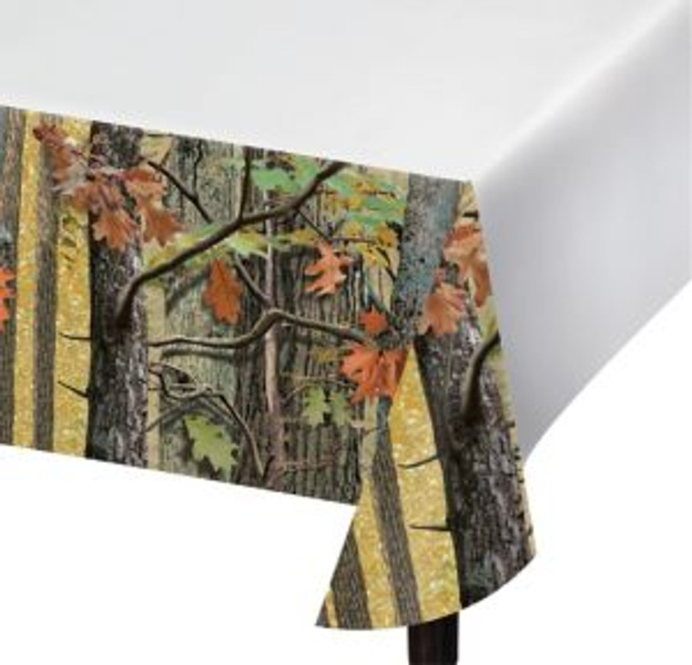Hunting CAMO Hunter/Outdoor/Woodsmen Plastic Table Cover Birthday Wedding Party Decoration
