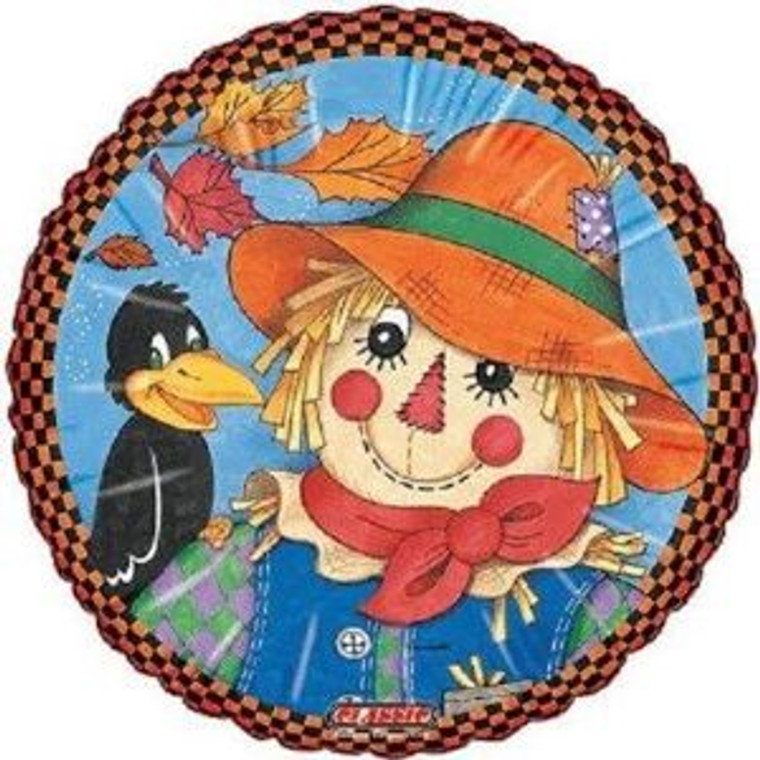 Fall Autumn SCARECROW with CROW Halloween Festival Carnival Party Balloon