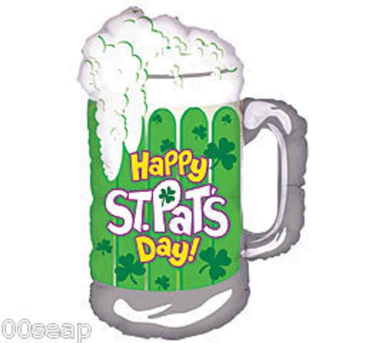 Jumbo Green Beer Mug Stein St. Patrick's Party Balloon
