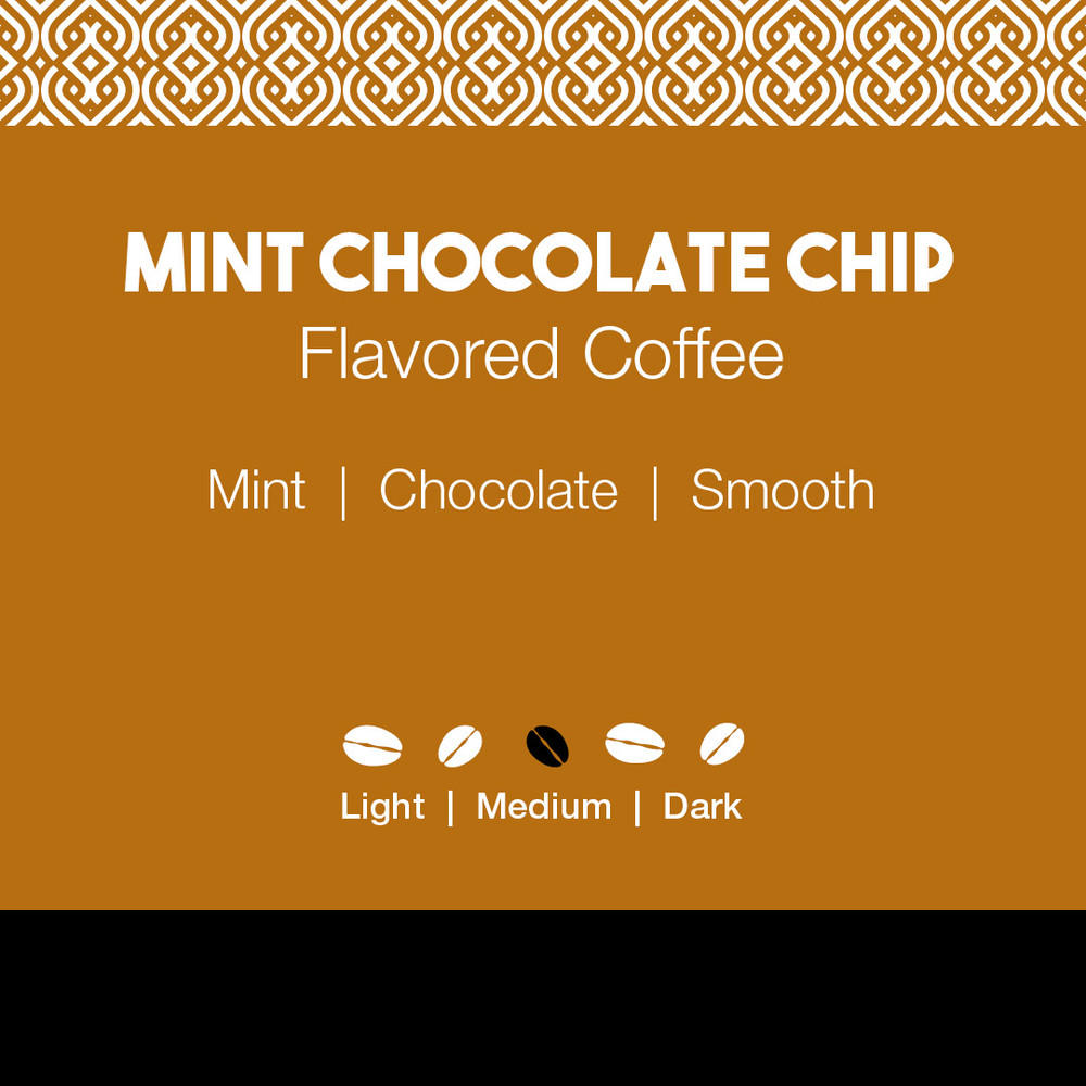 Mint Chocolate Chip Flavored Coffee