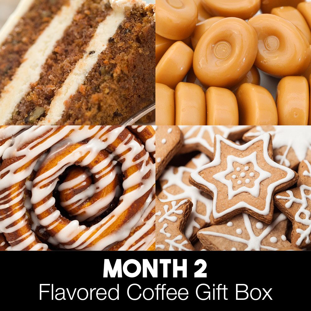 MONTH 2 Carrot Cake Butterscotch Toffee Cinnamon Rolls Gingerbread