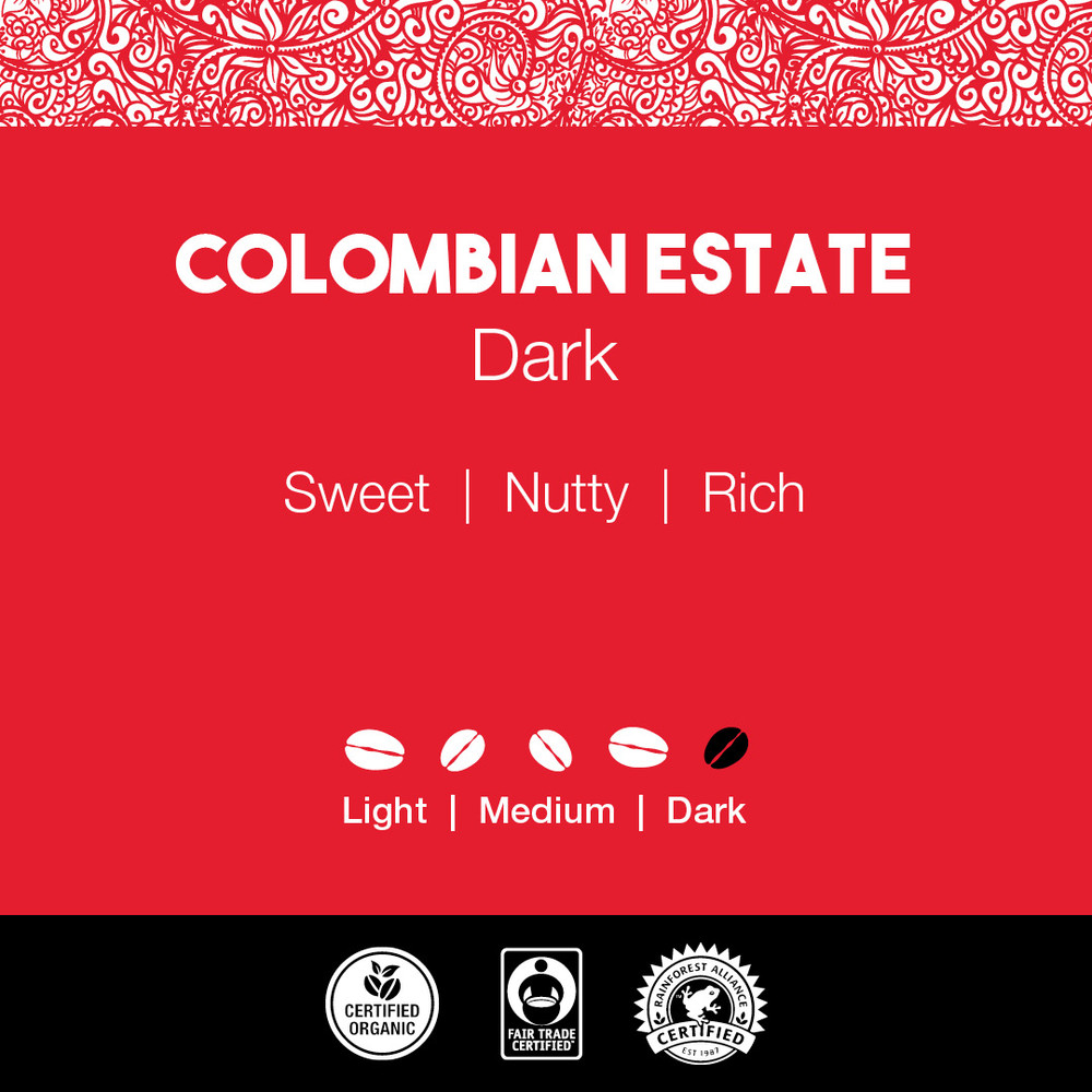 Colombian Estate Coffee – Dark Roast