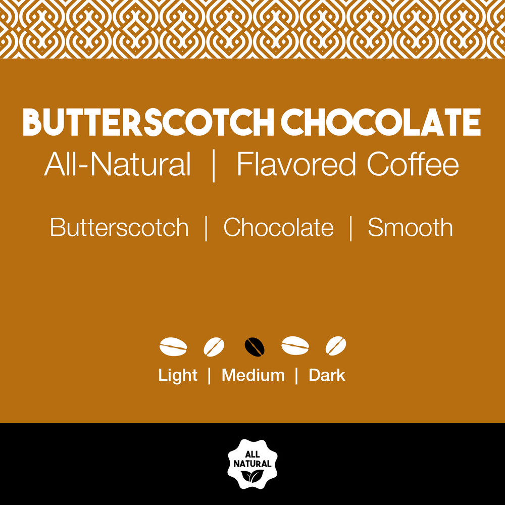 All-Natural Butterscotch Chocolate Flavored Coffee