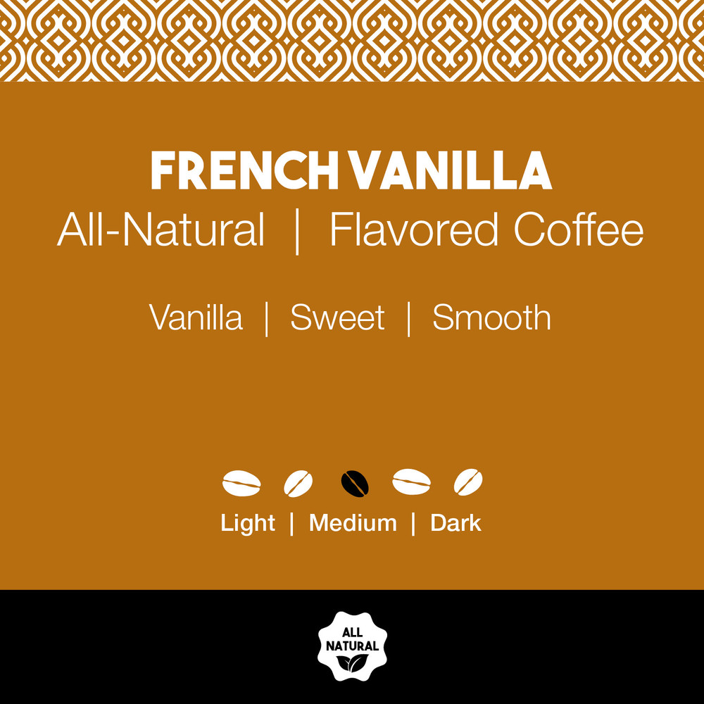 All-Natural French Vanilla Flavored Coffee