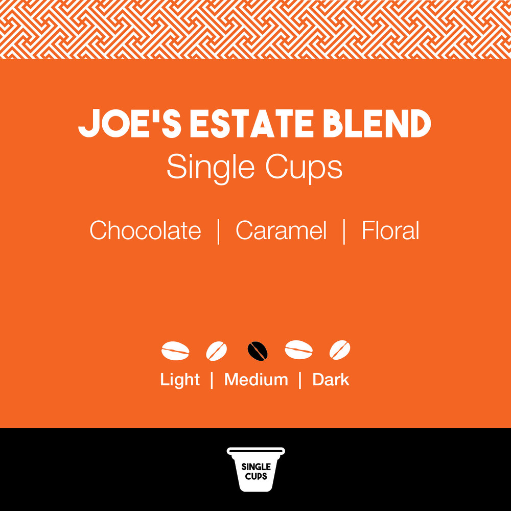 Joe's Estate Blend Coffee – Joe's Single Cups
