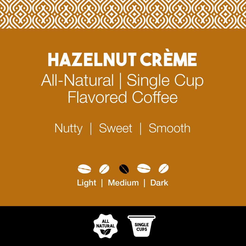 All-Natural Hazelnut Creme Flavored Coffee – Joe's Single Cups