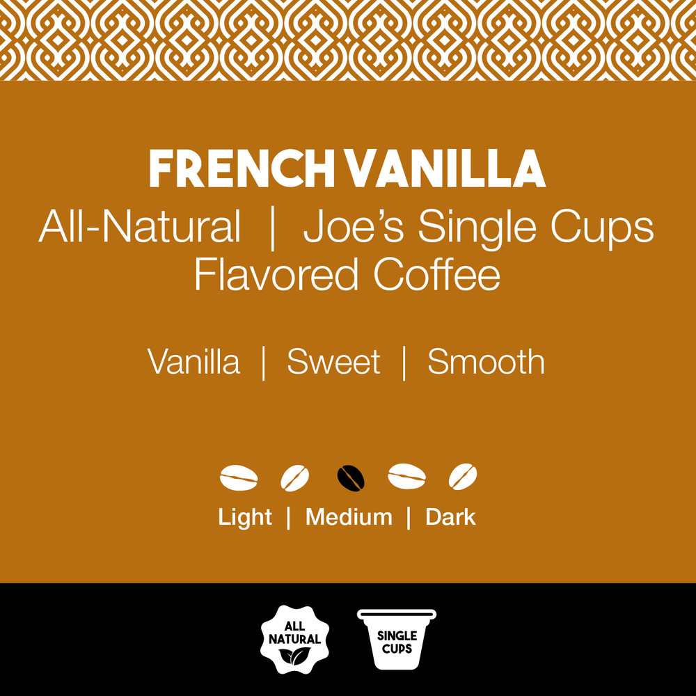 All-Natural French Vanilla Flavored Coffee – Joe's Single Cup