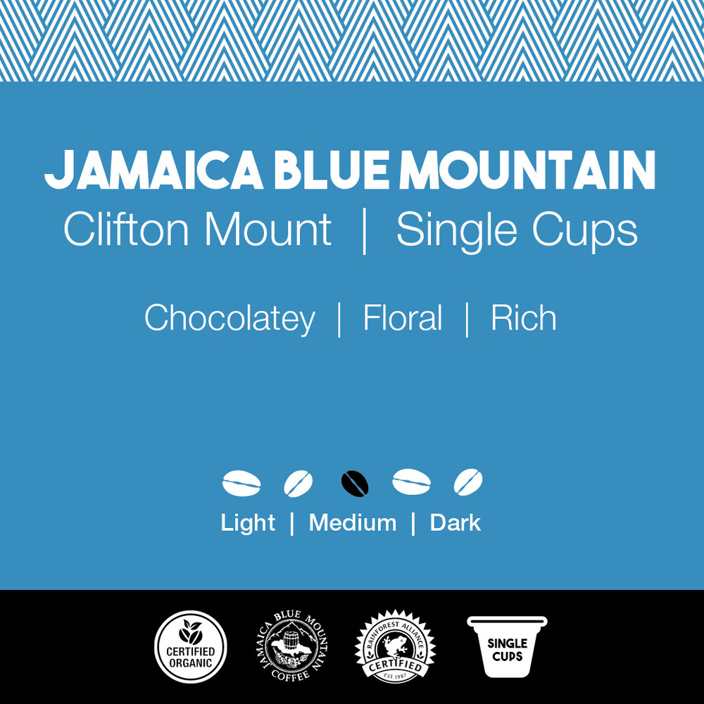 Jamaica Blue Mountain Coffee – Clifton Mount  |  Joe's Single Cups