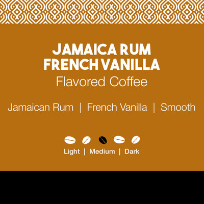 Jamaica Rum French Vanilla Flavored Coffee