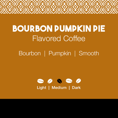 Bourbon Pumpkin Pie Flavored Coffee