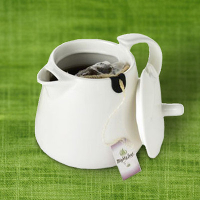 Mighty Leaf Tea Pot- White