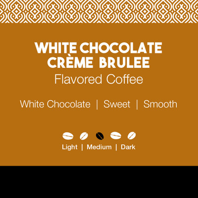 White Chocolate Crème Brulee Flavored Coffee