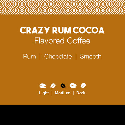 Crazy Rum Cocoa Flavored Coffee