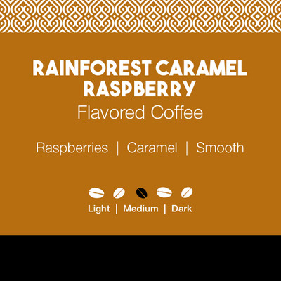 Rainforest Caramel Raspberry Flavored Coffee