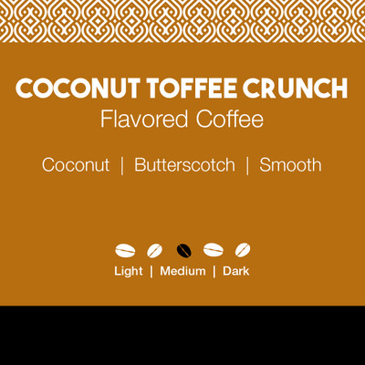 Coconut Toffee Crunch Flavored Coffee