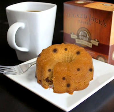 Wicked Jack's Rum Chocolate Chip Cake - serves 2
