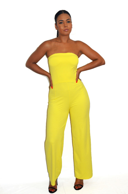 Women's Yellow Jumpsuit