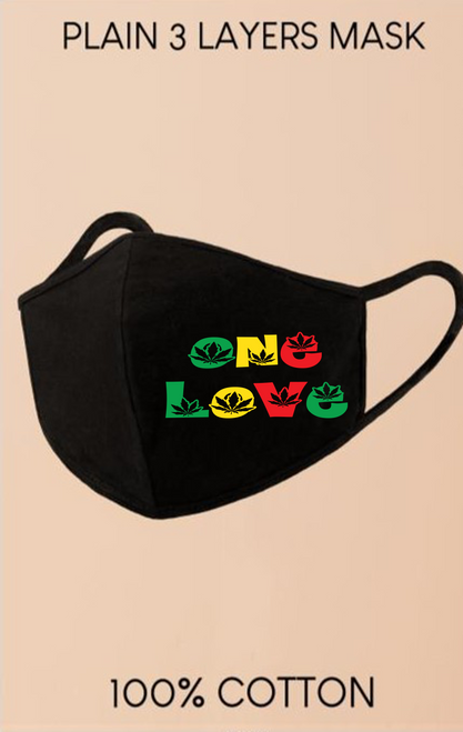 Black One Love Face Mask