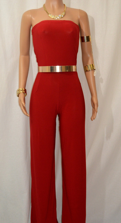 Gorgeous Classy Red Long Jumpsuit