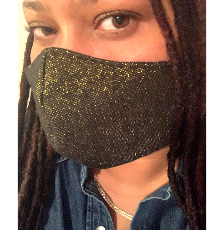 Black & Gold 3 layers Face Mask