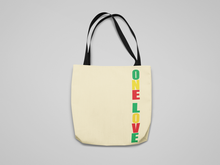 """""""One Love"""" Canvas Tote"""
