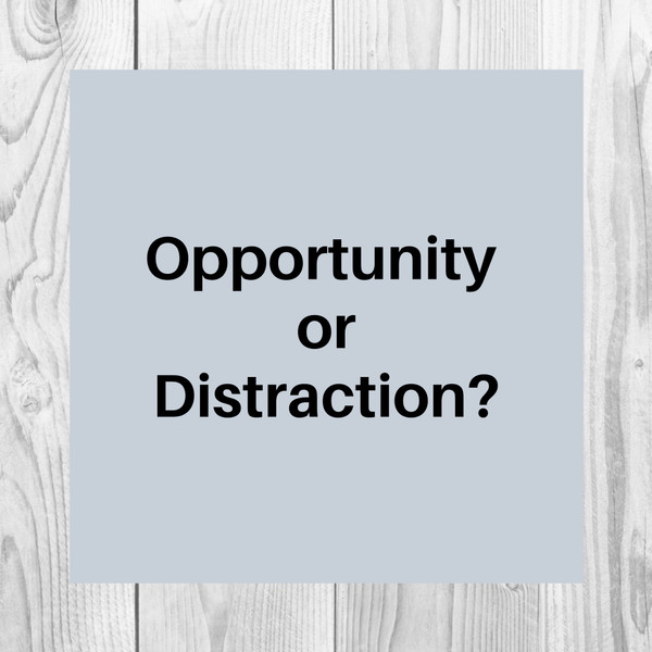 Opportunity or Distraction?
