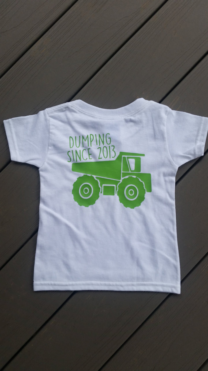 02fa3f5fa Dump Truck Birthday Shirt - Construction Birthday Party Shirt - Personalized  - Make it Personal by MM