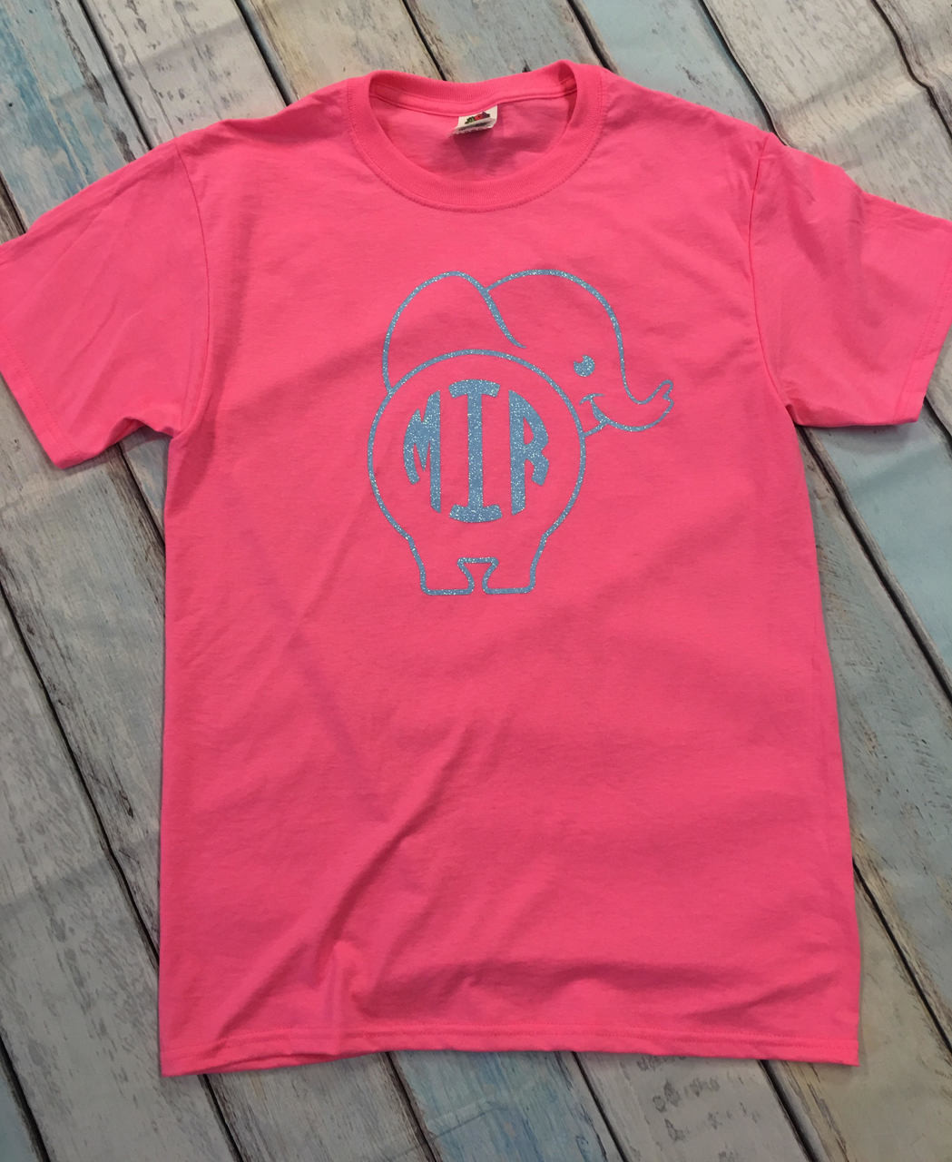 bc32ca88 Elephant Monogram Shirt - Personalized Shirt - Elephant Shirt - Monogrammed  Shirt - Make it Personal by MM