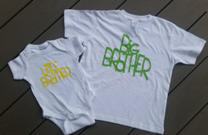 Big Brother Little Brother Matching shirts - baby onesie - boys tshirt