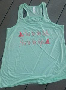 Fins to the Left, Fins to the Right - Margaritaville - Racerback Tank - Summer Tank - beach Tank