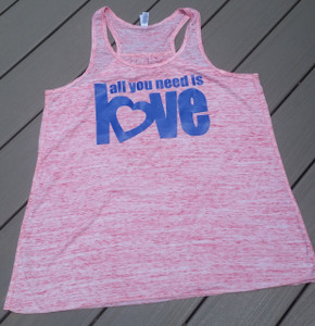 All you need is love - Racerback Tank - Beatles Tank