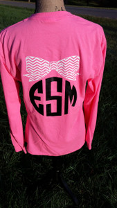 Monogrammed Shirt - Front and Back Personalization - Tshirt - Long Sleeve Tee - Hoodie
