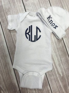Matching Onesie and Hat - Baby Outfit - Baby Onesie - Baby Hat - Personalized Outfit - Going Home Outfit - Newborn Outfit