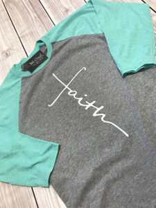 Faith Raglan - Faith Shirt - Inspirational Shirt - Spiritual Shirt