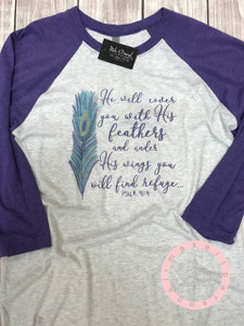 Find Refuge - He will Cover you with His feathers - Inspirational Shirt