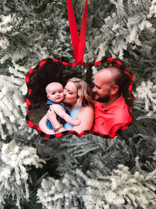 Personalized Photo Ornament - Personalized Christmas Ornament