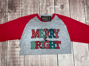 Merry & Bright Shirt - Christmas Shirt - Festive Shirts
