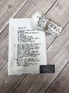 Handwriting Recipe Dish Towel - Loved Ones Handwriting - Handwriting Gifts
