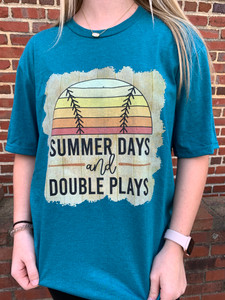 Summer Days and Double Plays Tee