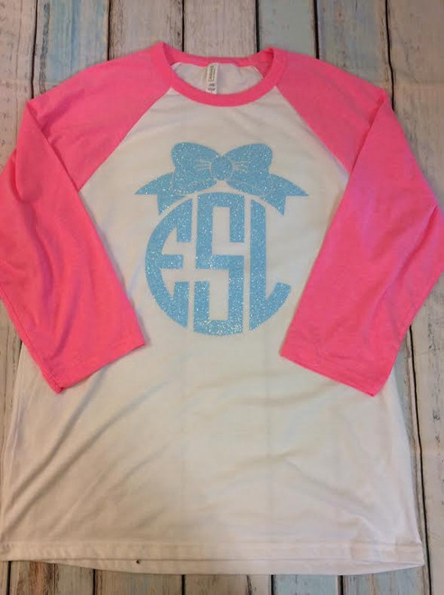Bow Monogram Shirt Monogrammed Shirt Adult Monogram Personalized Shirts Monograms Bows