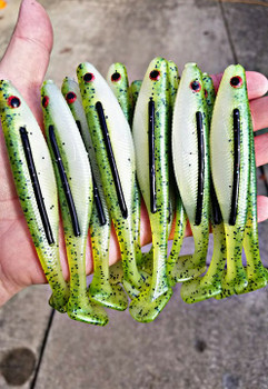 "225CI-2   5"" Blood Line Swim Bait and Insert Mold (2 Cavity)"
