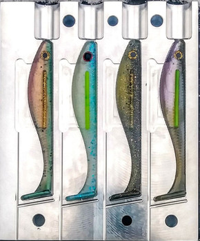 "224B-4   4"" Blood Line Swim Bait Mold"