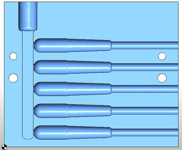 """727ST-05 2.75"""" Slender Tube Mold"""