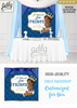 African Prince Backdrop,African Royal Blue Gold baby shower candy Table Backdrop, Digital Backdrop, Birthday Party, crown, Floral 4x4 and 4wx6h