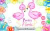 Flamingo clip art, Watercolor flamingo clipart,falmingo flower, pink flamingo, flamingos,flamingo clipart, flamingo birthday,flamingo invitation, baby shower