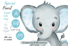 Elephant Boy watercolor ,vector, elephant clip art, scalable watercolor image for banner, large designs, shower decor, nursery wall art, eps