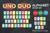 Colourful UNO Alphabet birthday clip art, DUO clip art, Spanish letters included, png, vector, eps, 50 clip arts, uno party, uno baby shower, cards