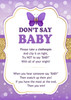 Don't Say Baby Game, Baby Shower games,Purple Gold Butterfly