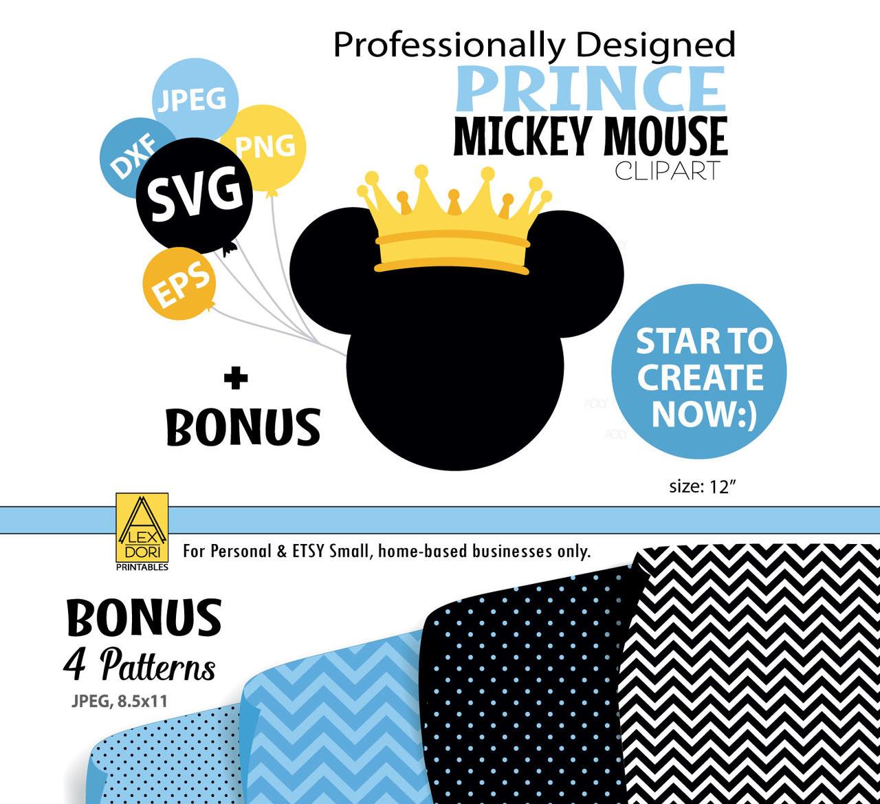 Disney Mickey Mouse Prince Head Svg Sunglasses Disney Mickey Mouse