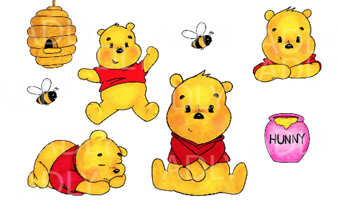 baby winnie the pooh clipart watercolor winnie pooh